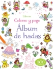 Álbum de hadas. Coloreo y pego