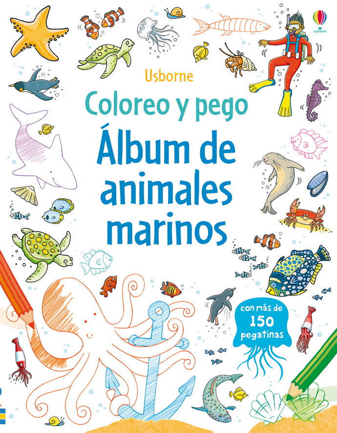 Álbum de animales marinos - Editorial Océano